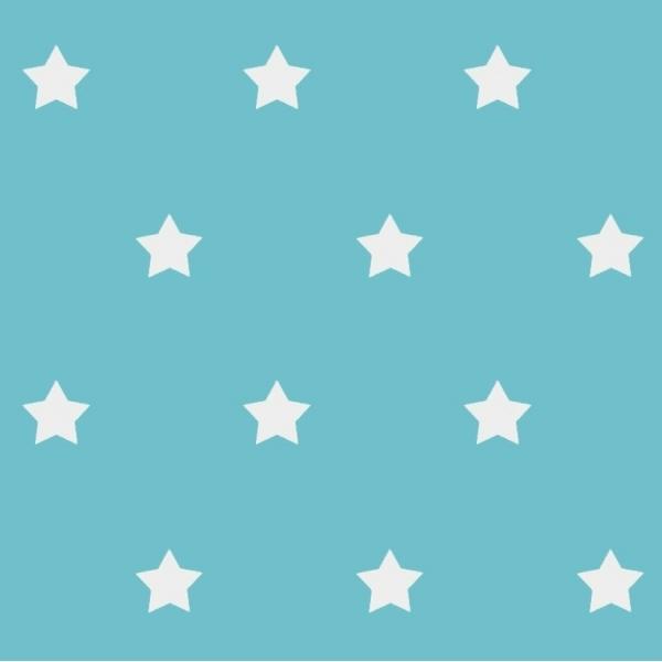 beschichtete baumwolle stars t rkis meterware sch ner wohnen preckel. Black Bedroom Furniture Sets. Home Design Ideas