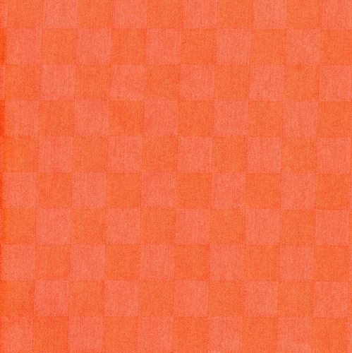 "Beschichtete Baumwolle ""Karo orange"" - Meterware"